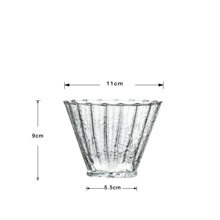 KAYEN手工加厚條紋耐熱玻璃咖啡濾器