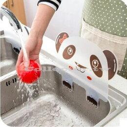 創意廚房 熊貓造型 吸盤水槽防濺 水板 炒菜