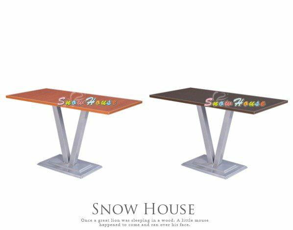 ╭☆雪之屋居家生活館☆╯1018-25/28/31/34/37/40/43/46 722 烤銀腳直角木芯板餐桌/飯桌