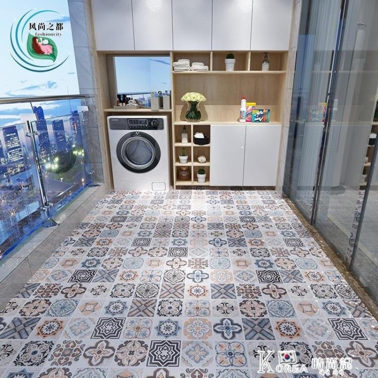 網紅自粘地板貼浴室衛生間防水耐磨地面貼紙廚房加厚防滑地貼