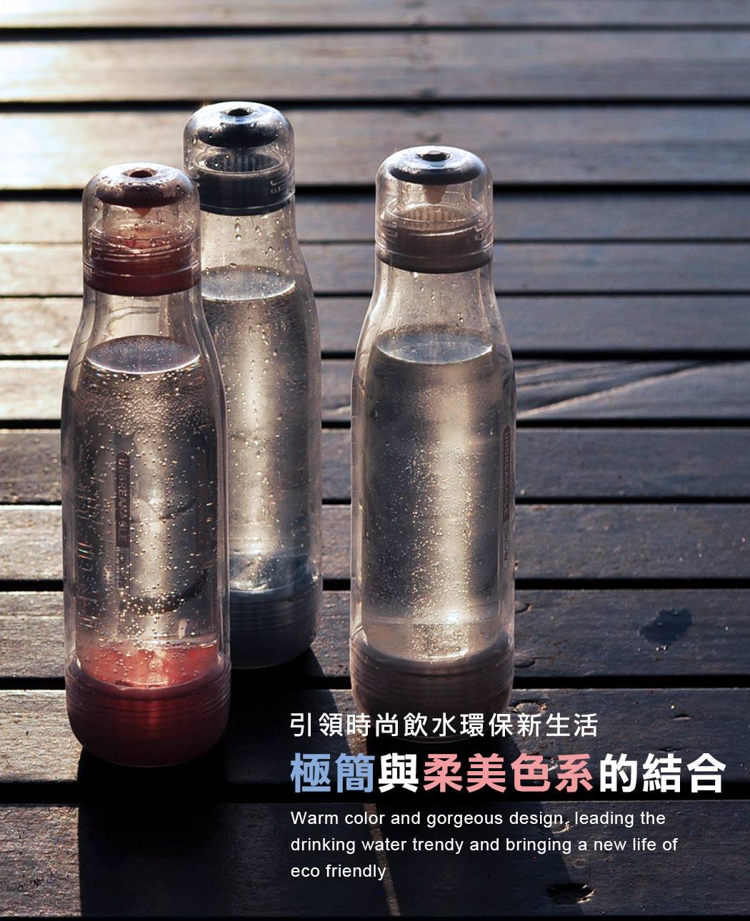 Driver 防撞玻璃保冷瓶 500ml 戶外/登山/小折/冷泡茶/冷飲/水瓶
