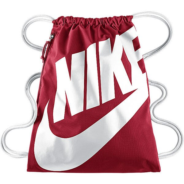 Nike HERITAGE GYMSACK 背包 束口袋 側拉鍊 鞋袋 紅 白 【運動世界】BA5128-621