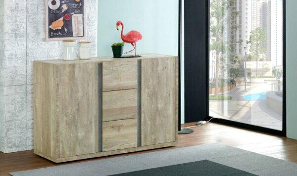 尚品傢俱:【尚品傢俱】JF-403-1約翰4尺厚切木紋餐櫃