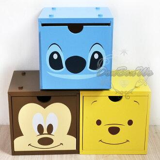 迪士尼米奇維尼史迪奇積木收納盒抽屜盒米526528史526535維尼526559海度