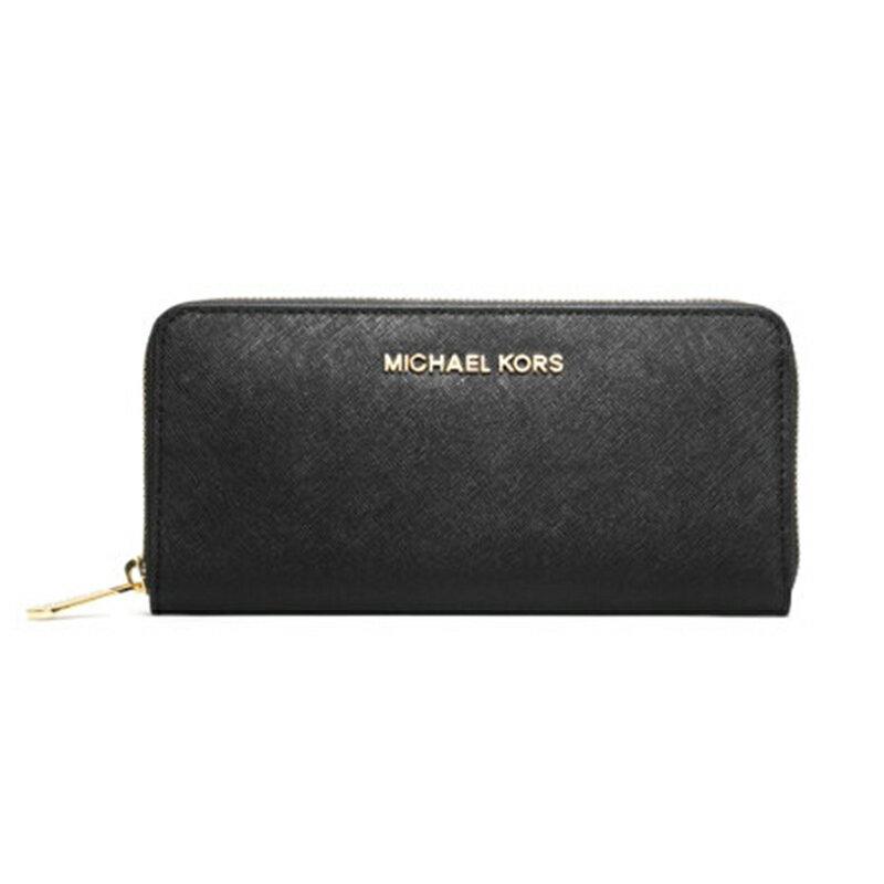 MICHAEL KORS設計 時尚素面款 防刮耐用皮革MK 長夾  32S3GTVE3L  新款牛皮手拿包女士MK手拿包金色LOGO皮夾 0