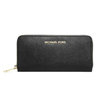 MICHAEL KORS設計 時尚素面款 防刮耐用皮革MK 長夾 32S3GTVE3L 新款牛皮手拿包女士MK手拿包金色LOGO皮夾