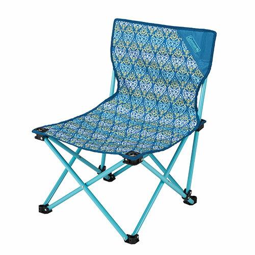 【鄉野情戶外專業】 Coleman |美國| 休閒椅 折合椅 折疊椅 板凳 野餐椅 樂趣椅-藍葉圖騰 CM-22004M000