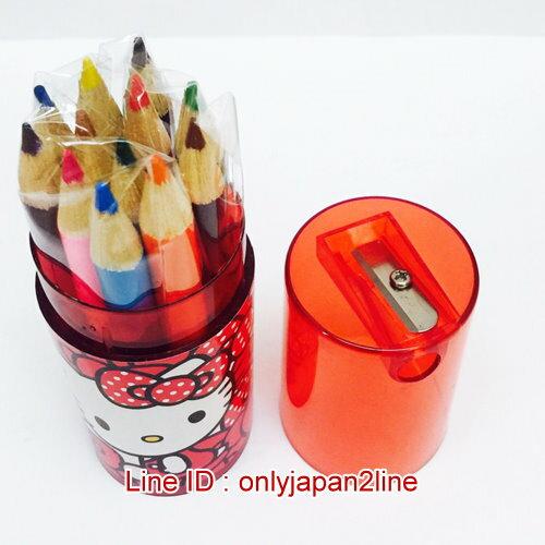 【真愛日本】1701120000612色短木色千筒裝-多結紅   三麗鷗 Hello Kitty 凱蒂貓   文具用品 色筆  生活用品