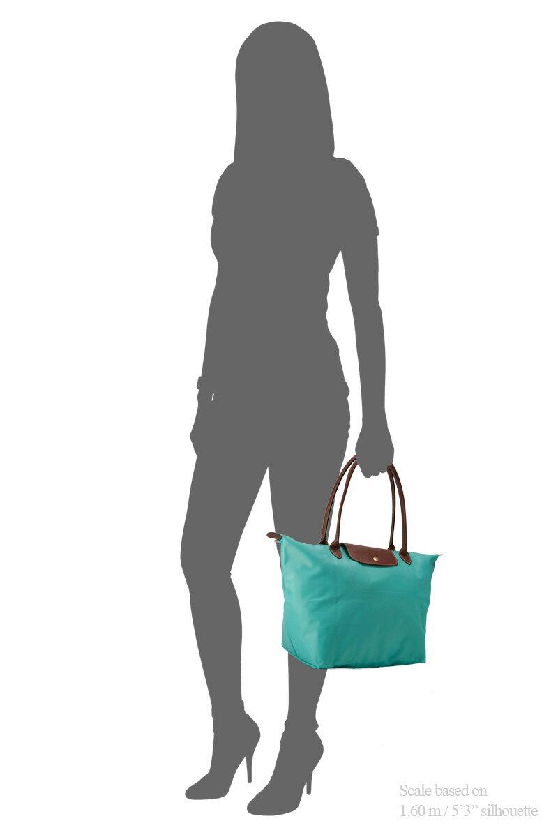 [長柄M號]國外Outlet代購正品 法國巴黎 Longchamp [1899-M號] 長柄 購物袋防水尼龍手提肩背水餃包 湖水綠 4