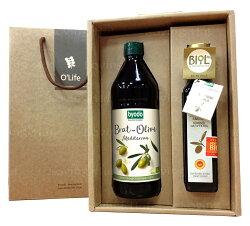 德國Byodo 極品有機橄欖油禮盒 ★愛家嚴選  D.O.P.有機特級初榨橄欖油(250ml)一瓶&100%有機高燃點橄欖油 (750ml)一瓶