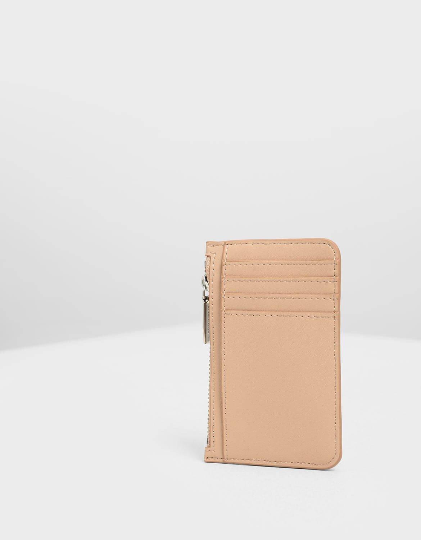 【直飛現貨 正品保證】小CK 壓紋滾邊卡夾 錢包(米色) CK6-50770360 皮夾 皮包 名片夾