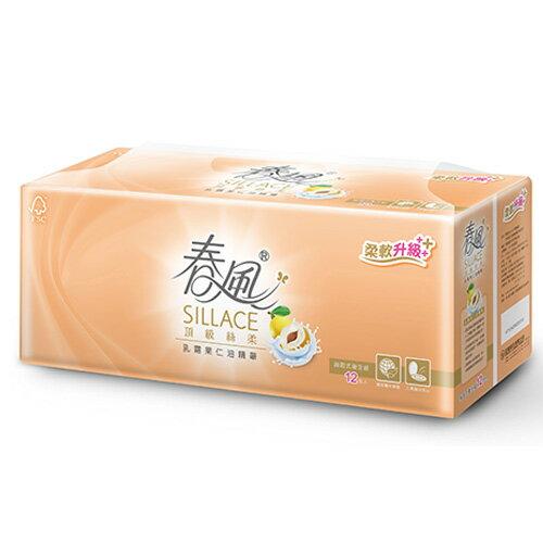 春風 SILLACE乳霜果仁油抽取式衛生紙110抽*12包【愛買】