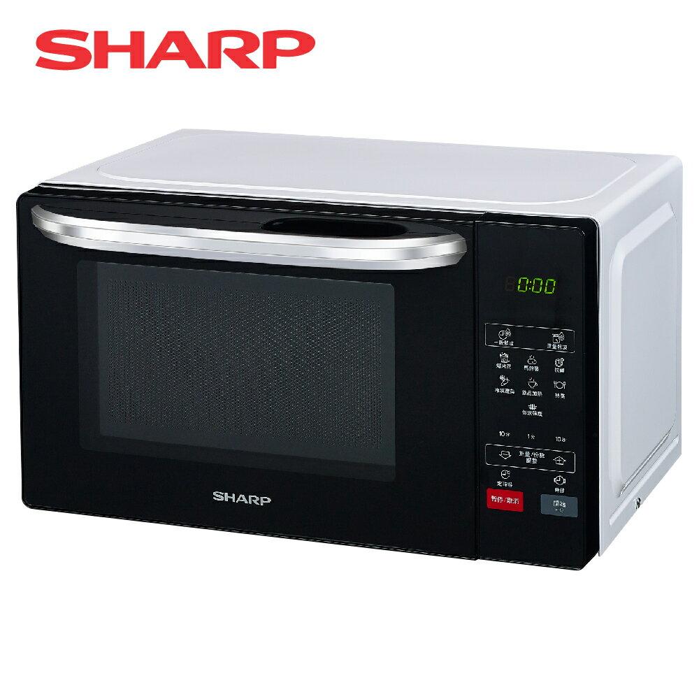 [SHARP 夏普]20公升 微電腦微波爐 R-T20KS-W【加贈 東元14吋DC風扇XA1405BRD】