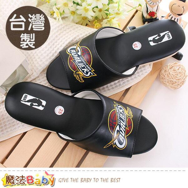 室內拖鞋 台灣製NBA授權騎士隊正版 魔法Baby~sk0435