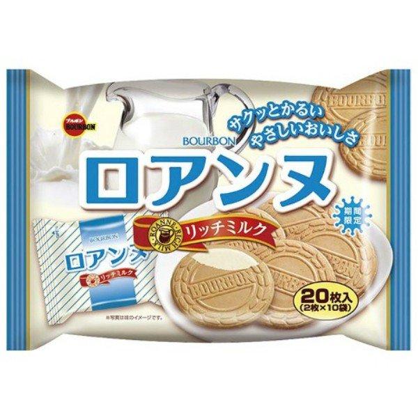 【Bourbon 北日本】濃厚牛奶法蘭酥 20枚入 142g ロアンヌリッチミルク  日本進口餅乾 3.18-4 / 7店休 暫停出貨 1