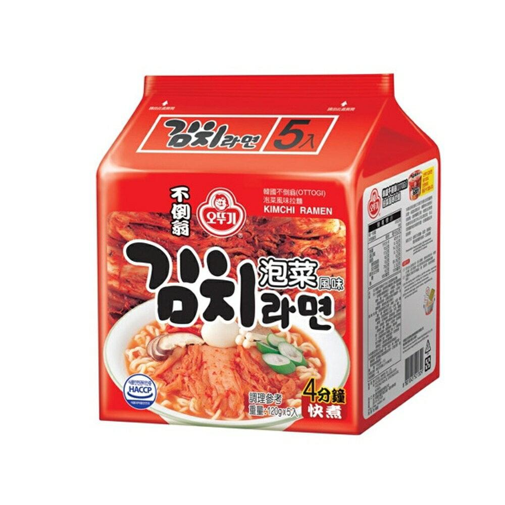 韓國不倒翁 泡菜拉麵(5入裝)【小三美日】◢D521329