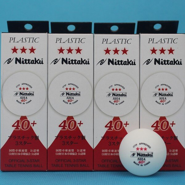 TAITUN ★★★日本 Nittaku 乒乓球 白色40mm(中國廠製)/一小盒3個入{特180} ITTF公認三星比賽用桌球