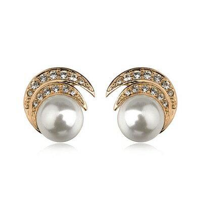 ~玫瑰金耳環925純銀鑲鑽耳飾~復古古典優美氣質情人節生日 女飾品2色73gs184~ ~