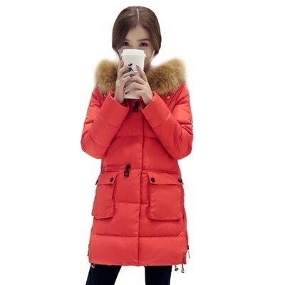 羽絨外套長版夾克-韓版簡約寬鬆顯瘦女外套3色73it119【獨家進口】【米蘭精品】