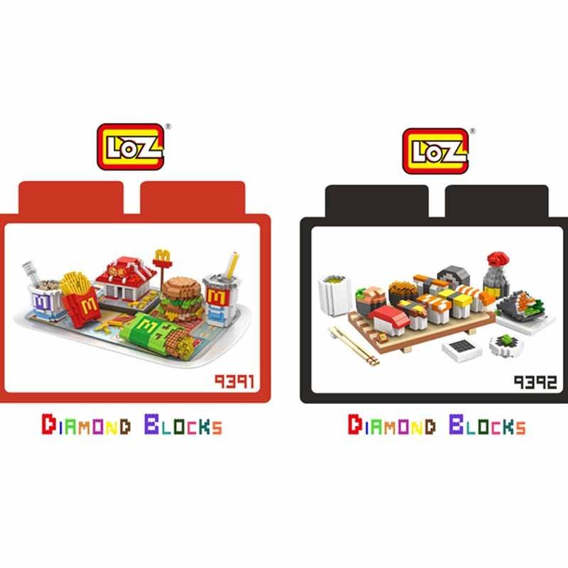 ^~斯瑪鋒 ^~LOZ 鑽石積木 9391 ~ 9392 麥當勞 壽司 美食系列 益智玩具