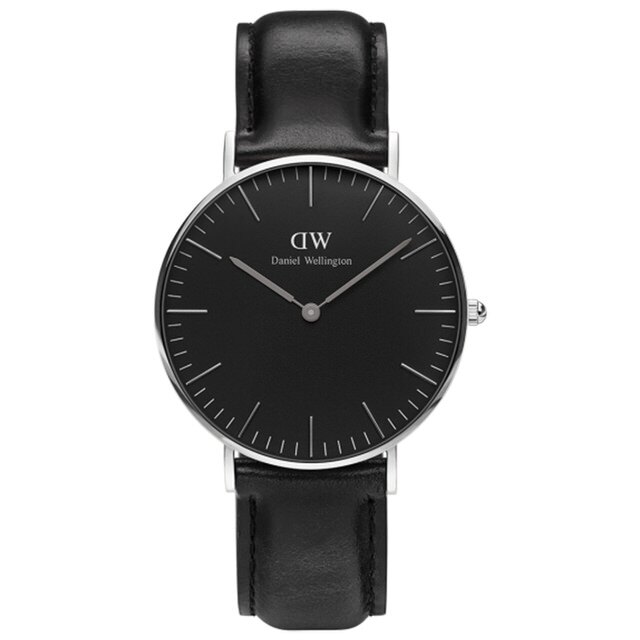 ~ 貨~Daniel Wellington DW 瑞典簡約風格 36mm    黑色  銀