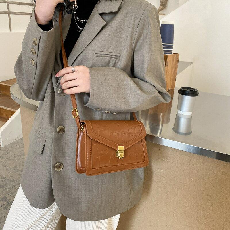 春季上新小包包女2021潮韓版時尚簡約洋氣個性單肩斜挎小方包