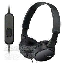 【曜德視聽】SONY MDR-ZX110AP 黑色 簡約摺疊 耳罩式耳機 線控通話 ★免運★送收納袋★