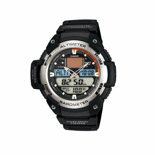 CASIO 多功能戶外運動雙顯時尚錶/SGW-400H-1BVDR