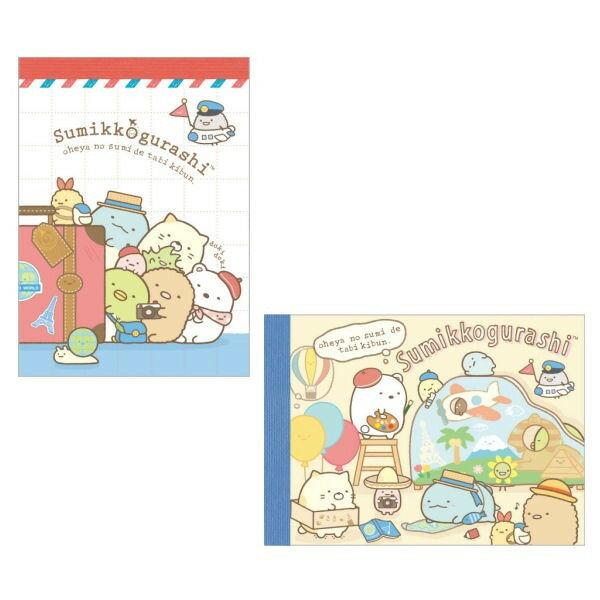真愛日本:【真愛日本】17082200009日製小便條-SG環遊世界兩款san'x角落公仔角落生物便條本便條紙
