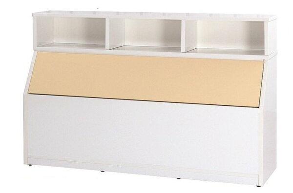 【石川家居】846-05(5尺鵝黃白色)床頭箱(CT-214)#訂製預購款式#環保塑鋼P無毒防霉易清潔