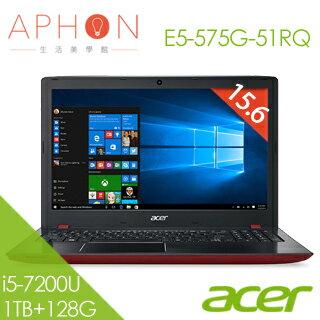 【Aphon生活美學館】ACER E5-575G-51RQ 15.6吋 Win10 2G獨顯 筆電(i5-7200U/4G/1T+128G SSD)-送acer無線鼠+雙人牌指甲剪