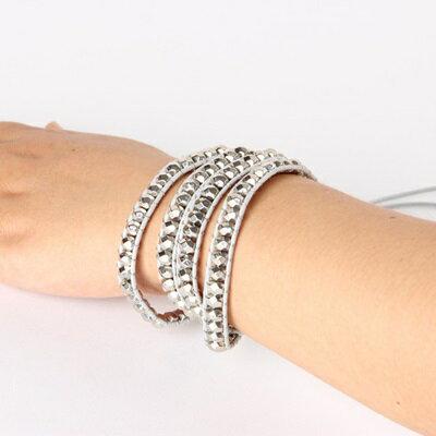 真皮手環 纏繞個性手鍊-時尚獨特創意設計情人節生日禮物女飾品73jz50【獨家進口】【米蘭精品】