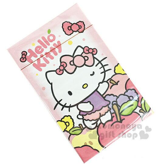 〔小禮堂〕Hello Kitty 撲克牌《粉.站姿.蘋果.蝴蝶結.盒裝》