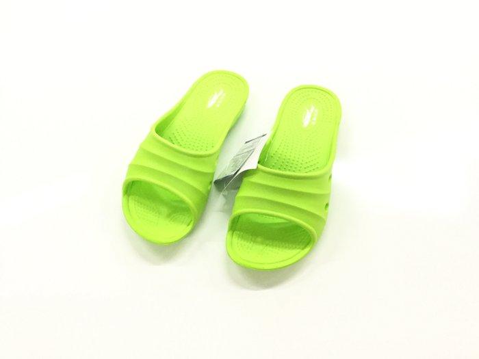 ~555鞋~綠色 母子鱷魚 馬卡龍色 浴室 海灘 防水 拖鞋 一體成形 氣墊 超舒適 休閒