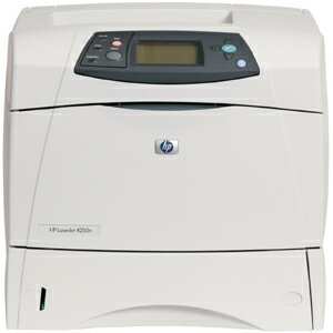 HP LaserJet 4250N Laser Printer - Monochrome - 1200 x 1200 dpi Print - Plain Paper Print - Desktop - 45 ppm Mono Print - Letter, Legal, Executive, Statement, Envelope No. 10, Monarch Envelope, Custom Size - 200000 Duty Cycle - Manual Duplex Print - Ethern 1
