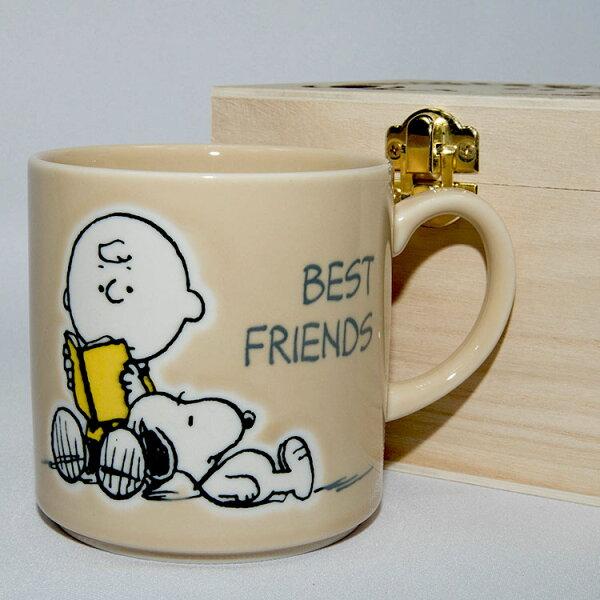 NOBA 不只是禮品:SNOOPY史努比陶瓷馬克杯鏤空花紋木盒正版日本製