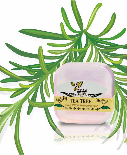 CHIAN-CHIAN 芊芊 : 茶樹精油手工肥皂 100±5g 1入 ❤鎧霆健康生活小舖❤