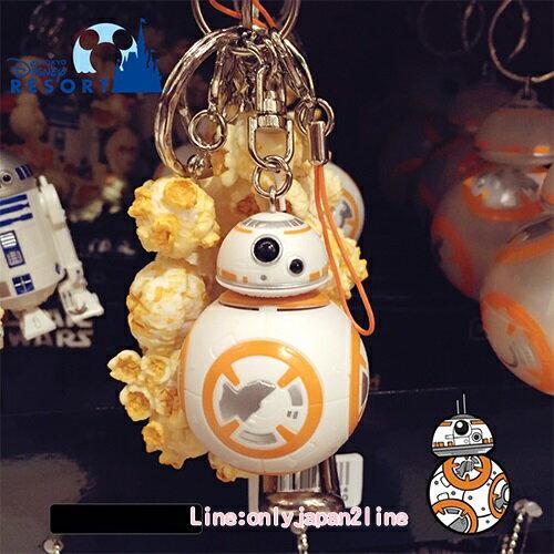 【真愛日本】17091400017 樂園限定鎖圈-爆米花筒BB8 星際大戰 迪士尼帶回 鑰匙圈 鎖圈 吊飾