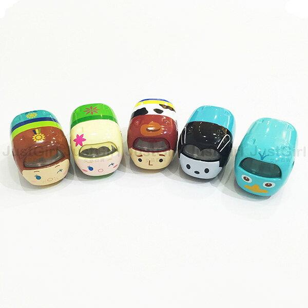 迪士尼 TOMY 玩具車 小汽車 TSUM TSUM 艾莎安娜鴨嘴獸泰瑞胡迪奧斯華 玩具 正版日本進口 JustGirl