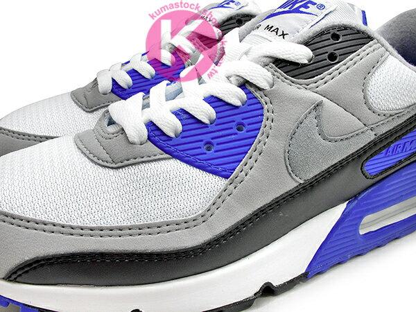 2020 經典復刻慢跑鞋 OG 版型 NIKE AIR MAX 90 白灰黑 寶藍 網布 絨毛面 大氣墊 慢跑鞋 (CD0881-102) 0120 2