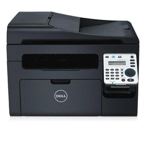 Dell B1165NFW Laser Multifunction Printer - Monochrome - Plain Paper Print - Desktop - Copier/Fax/Printer/Scanner - 21 ppm Mono Print - 1200 x 1200 dpi Print - Manual Duplex Print - 21 cpm Mono Copy LCD - 1200 dpi Optical Scan - 150 sheets Input - Fast Et 0