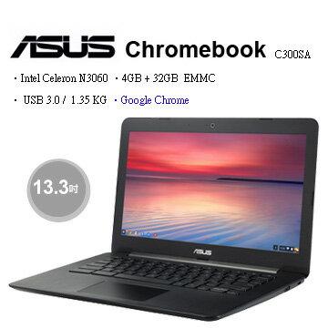 福利品【ASUS】華碩 Chromebook C300SA C300SA-0032AN3060 13.3 吋 筆記型電腦 筆電 金屬質感髮絲紋 USB3
