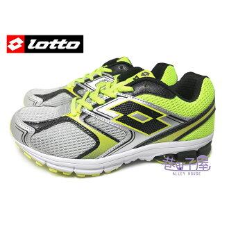 【巷子屋】義大利第一品牌-LOTTO樂得 男款ZENITH雙密度避震超輕量運動慢跑鞋 [3394] 灰螢黃 超值價$590