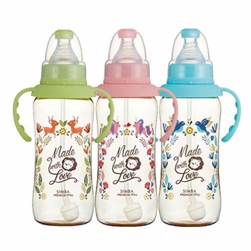 辛巴桃樂絲PPSU自動標準葫蘆大奶瓶果綠天藍蜜粉320ml『121婦嬰用品館』