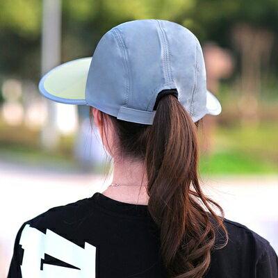 遮陽帽 情侶款防曬帽-超大帽簷旅遊外出男女鴨舌帽8色73pp573【獨家進口】【米蘭精品】 2