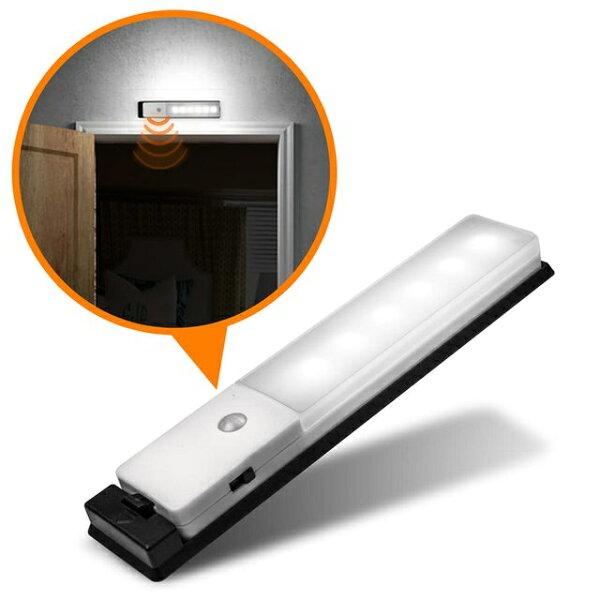 aiboUSB充電式智能LED薄型人體感應照明燈LED燈紅外線感應樓梯燈探照燈小夜燈