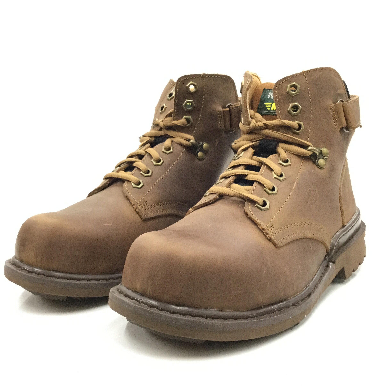 ※555鞋※ KS MIB 532I01-C00 褐色瘋馬皮  氣墊式安全鞋(會呼吸喔)~送襪子乙雙