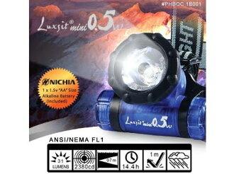 [ Police ] 頭燈/led頭燈/背包客/健行/玉山/嘉明湖 PHBOC 1B001 Mini 0.5W LED 單眼頭燈 Luxsit