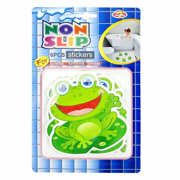 【888便利購】青蛙地板防滑貼紙(1組6張)