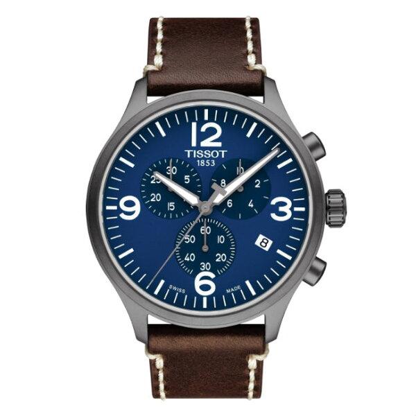 TISSOT天梭錶CHRONOXLT1166173604700時尚計時腕錶藍面45mm